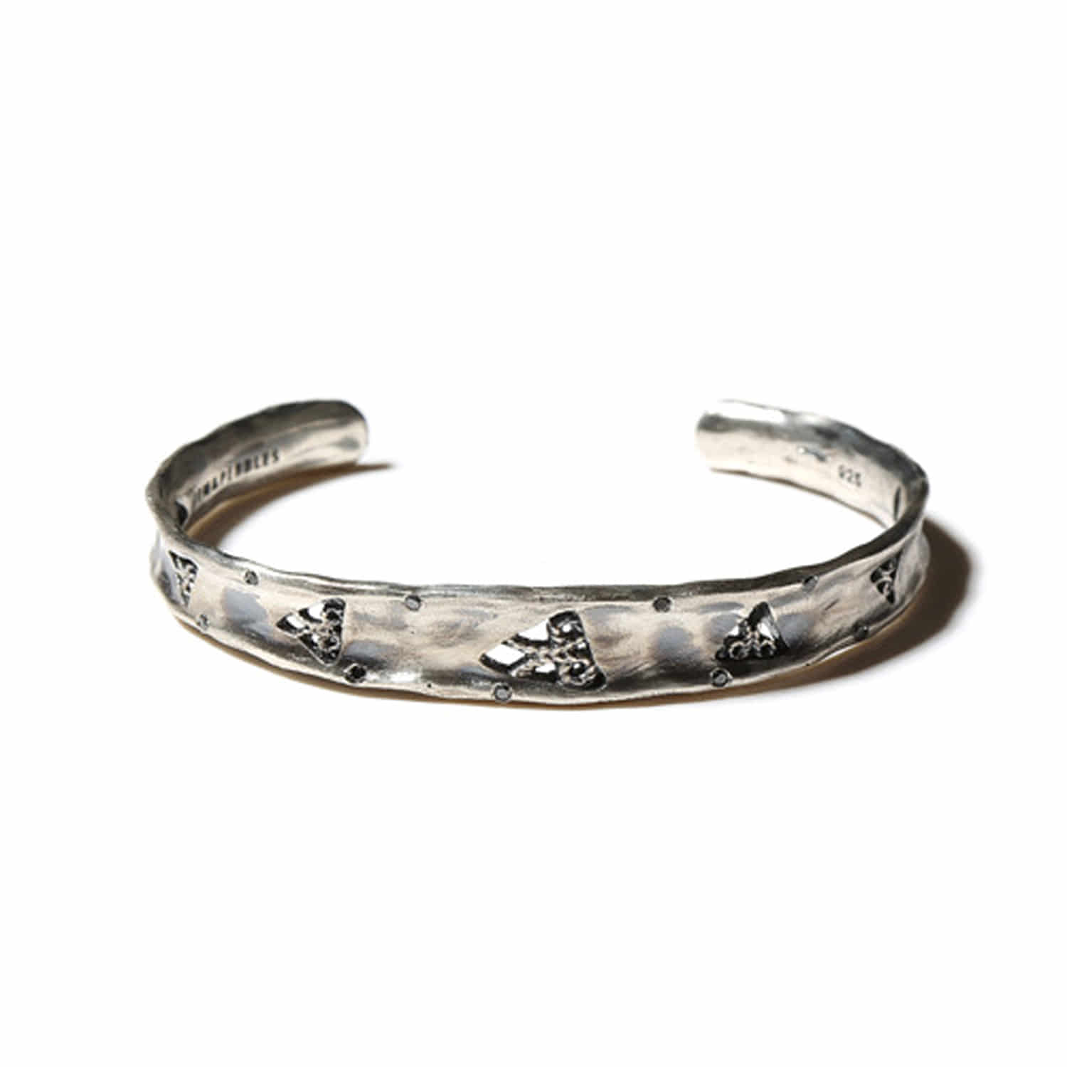 Triangle glyph diamond cuff