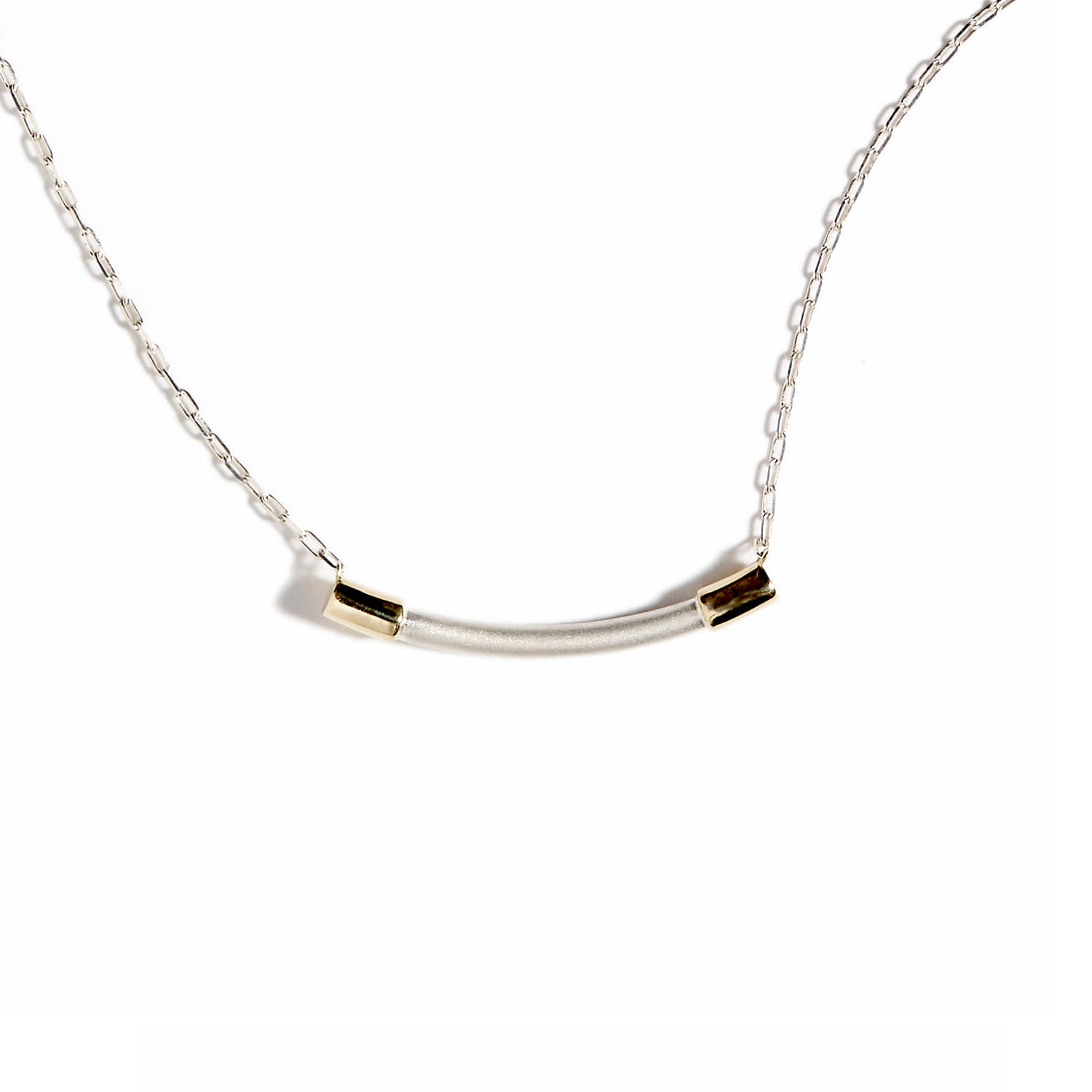 NS_Silver chain necklace