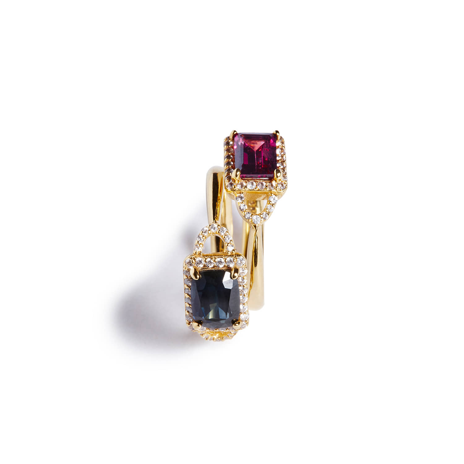Marini ring_Blueblack / Purple
